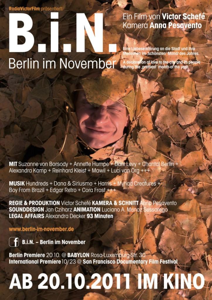 B.i.N. - Berlin im November - Poster © Catrin Schmitt